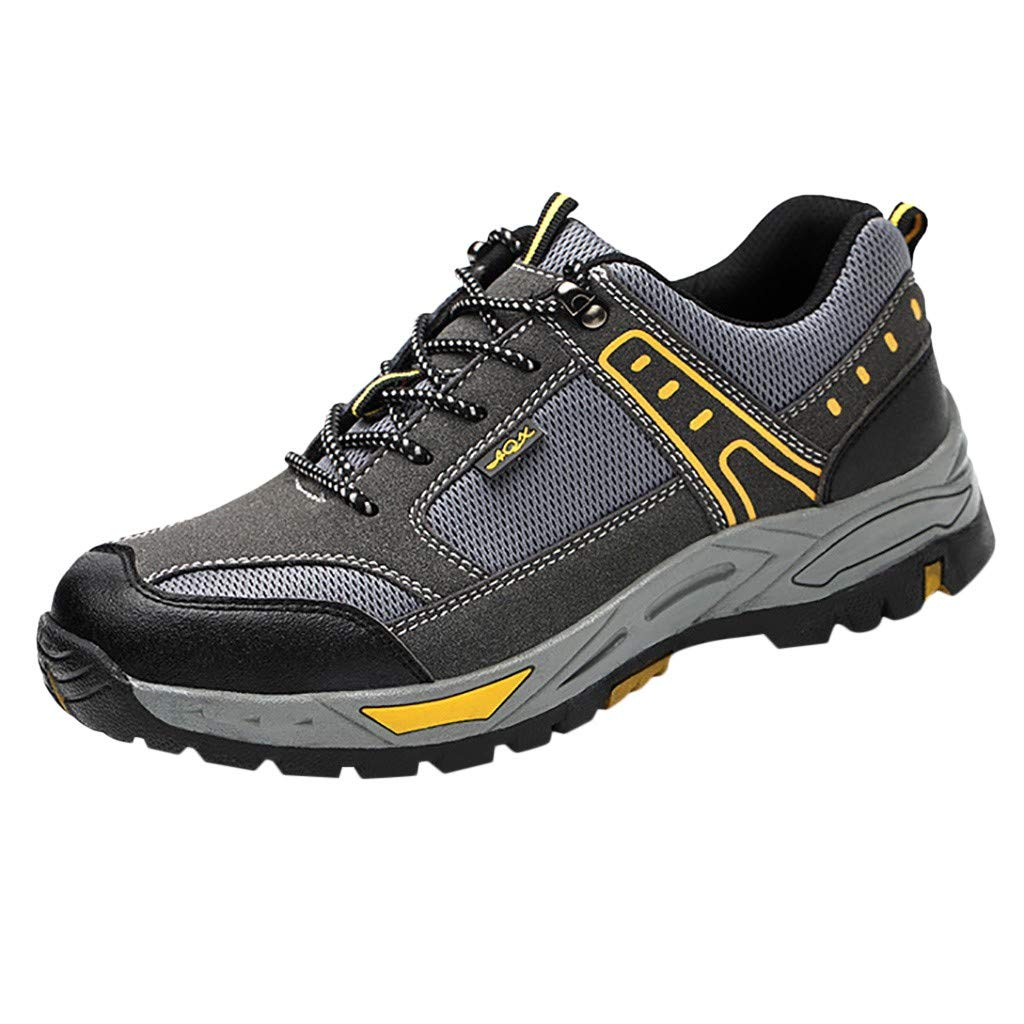 Corriee Labor Insurance Shoes Work Safety Shoe Breathable Wear-Resistant Non-Slip Shoes Gray