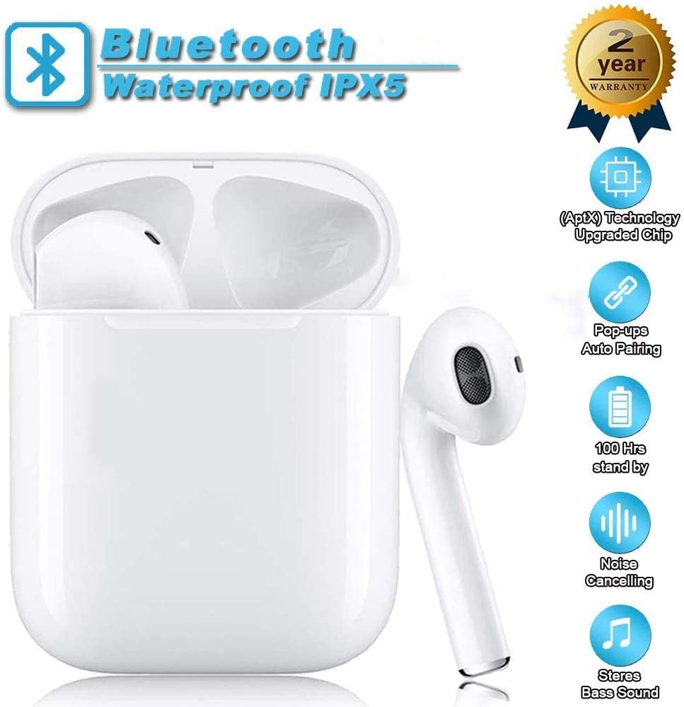 Bluetooth 5.0 Headphones Bluetooth Wireless Earbuds 3D Stereo Touch-Control Headsets Pop-ups Pairing 24H Playtime Fast Charging Case IPX5 Waterproof Earphones for iPhone Apple Airpods Android-sc