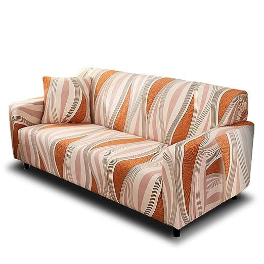 HOTNIU Funda Elástica de Sofá Funda Estampada para sofá Antideslizante Protector Cubierta de Muebles (Dos Plazas, Modelo_sx)
