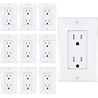 AbboTech 15A Tamper Resistant Duplex Receptacle Standard Wall Outlet Decorative Electrical Outlet, Child Proof Safety…
