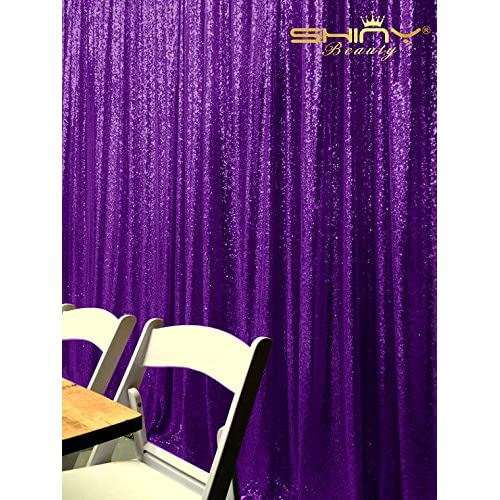 PHOTOBOOTH BACKGROUND Best Choice-4FTx7FT-Purple-Sequin backdrops, Sequin fabric,Wedding backdrops,Rust Backdrop,Sequin curtains,Photography backdrop (buy it now) (Purple)