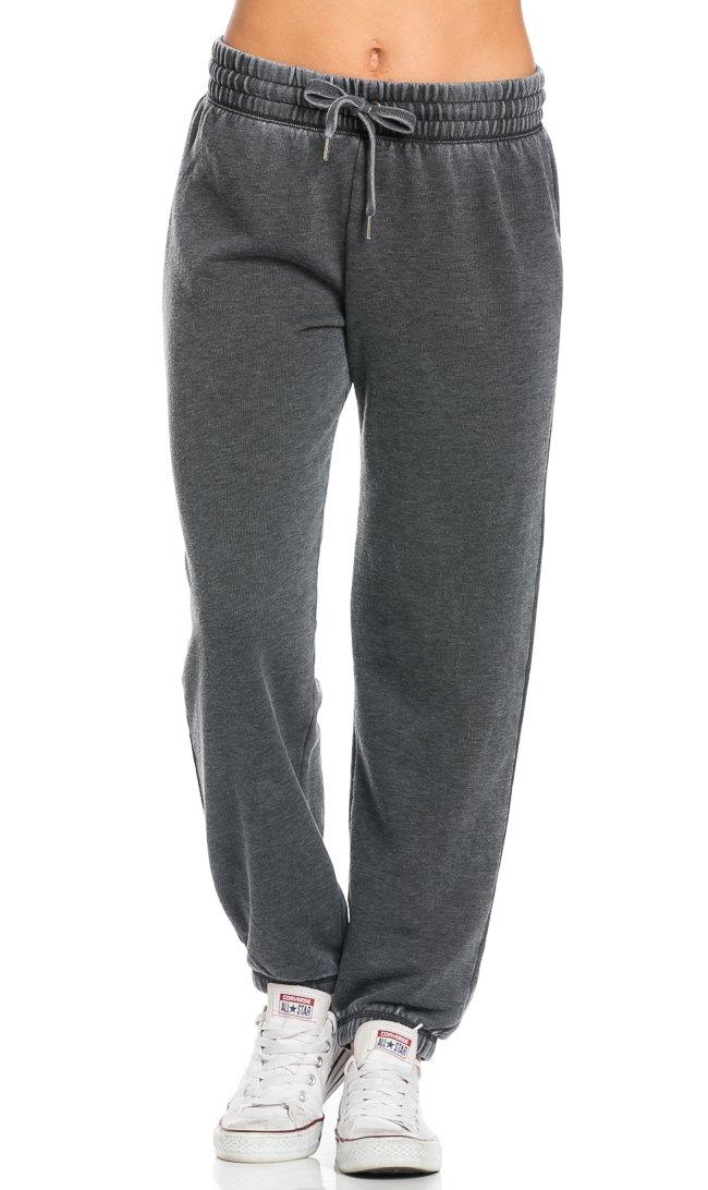 快適なPigment Washed Drawstring Jogger Pants inブラック B01HR450M4 Medium