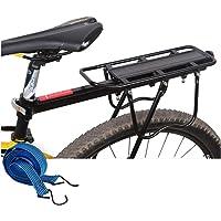 Posterior de la bici portaequipajes for bicicletas al portaequipajes de aleación de aluminio universal de altura regulable Accesorios de bicicletas for más pesadas cargas superiores y laterales