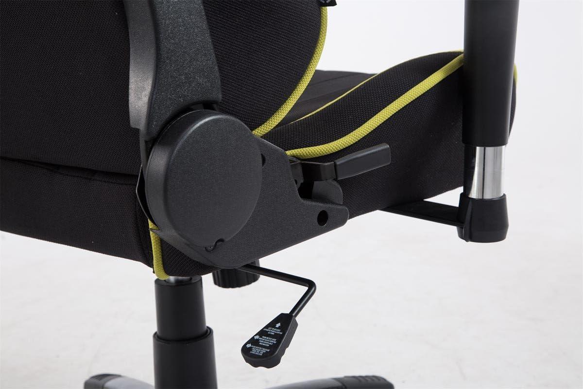 CLP Sedia Ufficio Racing Shift XL in Stoffa I Poltrona Pc Gaming Carico Max 150 kg I Poltrona Set-Up Gamer con Doppio Cuscino Nero/_Bianco con Poggiapiedi