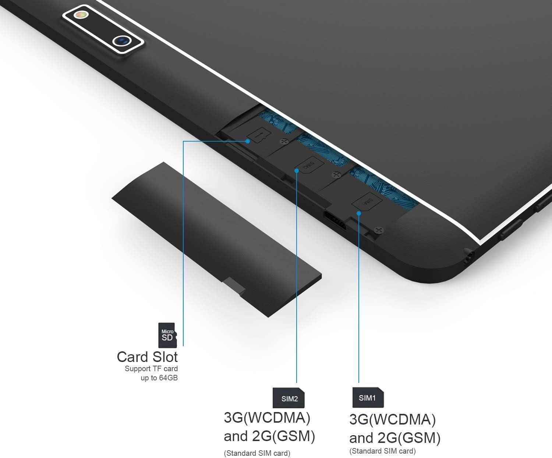 Tablet de 10 pulgadas con Android, 3 G sin bloqueo con ranuras para tarjetas SIM dobles y cámaras, tablet PC con WiFi, Bluetooth, GPS negro negro 10 inch (2GB+32GB): Amazon.es: Informática