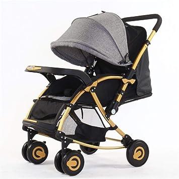 Wanlianer Carrito de Bebe Cool Portable Baby Baby Cochecito al Aire Libre Baby Cradle Fácil de Llevar Recién Nacido y niño pequeño (Color : Gris): ...