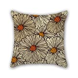 NICEPLW flower throw pillow covers 18 x 18 inches / 45 by 45 cm for gril friend,teens boys,wedding,pub,him,indoor with 2 sides