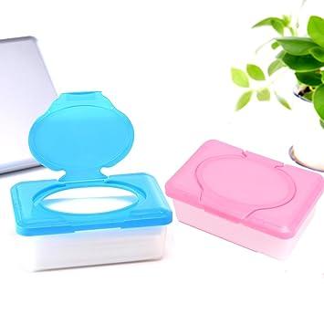 bureze plástico para toallitas húmedas papel caso toallitas bebé caja de almacenaje soporte contenedor Houseware: Amazon.es: Hogar
