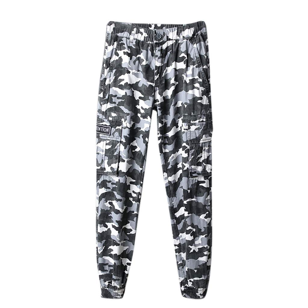 Allywit Camouflage Jogger Pants for Men Lightweight Quick Dry Hiking Pants Workout Sweatpants with Pockets