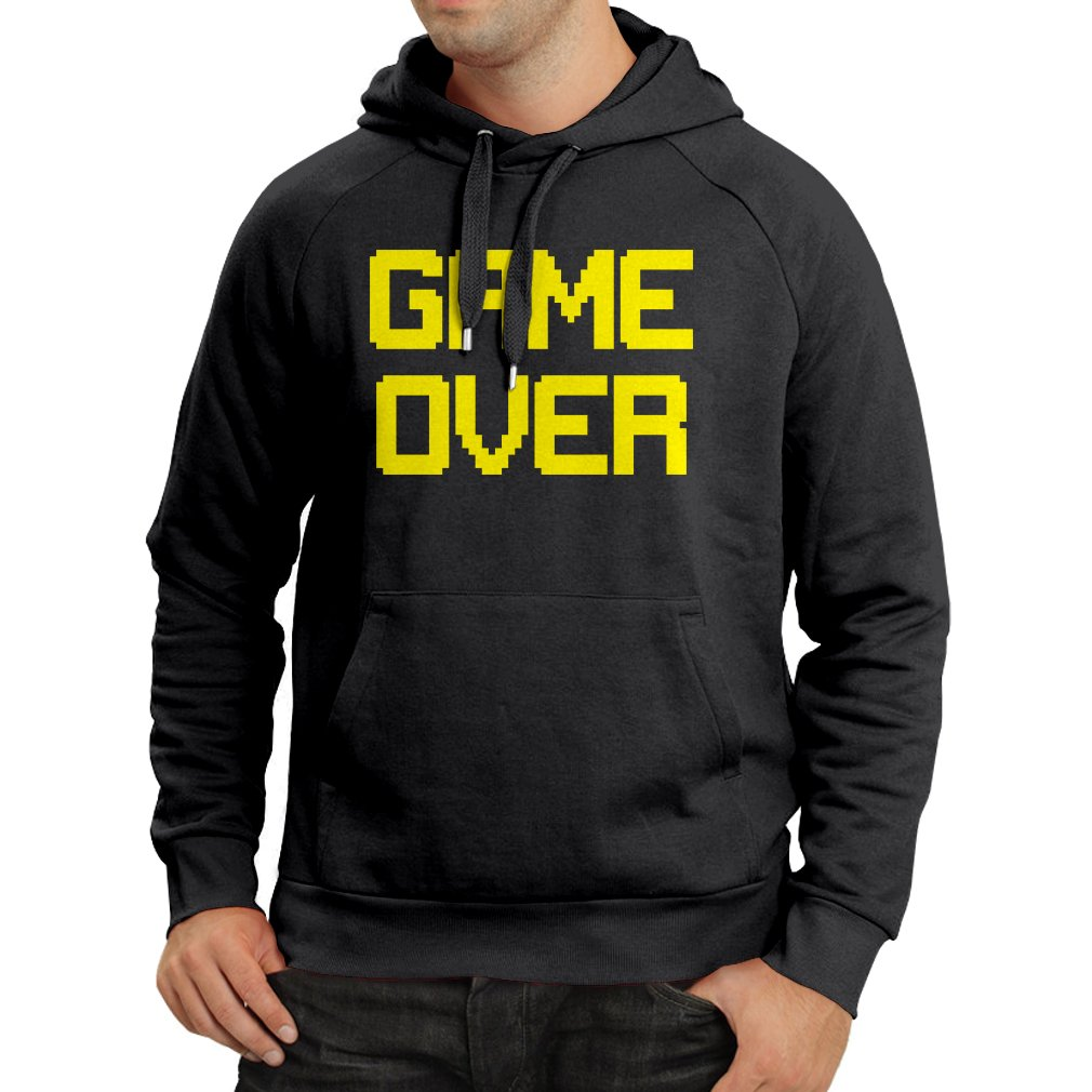 lepni.me Unisex Hoodie Game Over Retro Gaming Funny Video Gamer Outfits