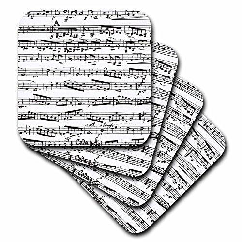 3d Rose 3dRose cst_112825_1 Musical Notes-Vintage Sheet M...