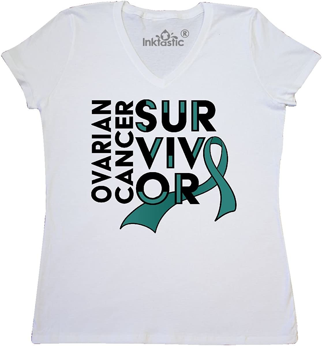 inktastic We Will Win Against Ovarian Cancer Ribbon Baby T-Shirt