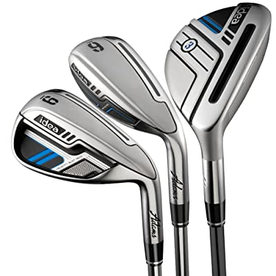 Adams Golf Men's New Idea Iron Set, Right Hand, Graphite, Regular Flex, 3-PW