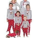 K-youth Ropa para Padres e Hijos Conjuntos Bebe Niño Navidad Pijama para Padres e Hijos Ropa Mujer Hombre Invierno 2018 Ofertas y Pantalones Conjunto de Ropa