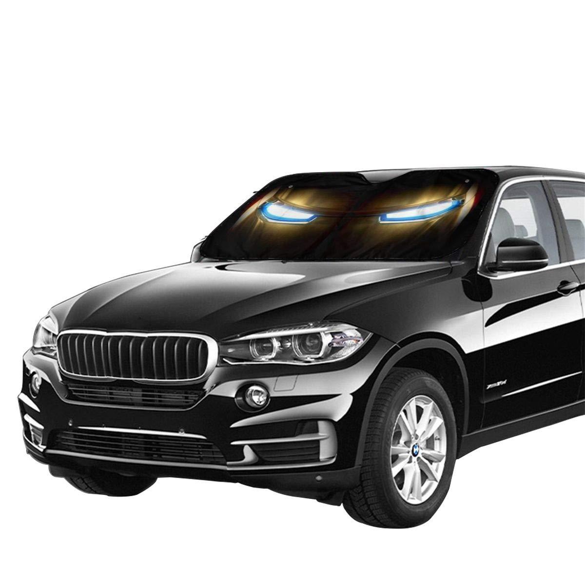 130cm Keep Your Car Cool UV Sun Reflector DSJLHM Iron Man Car Windshield Sunshade Car Windshield Awning Sun Visor 70