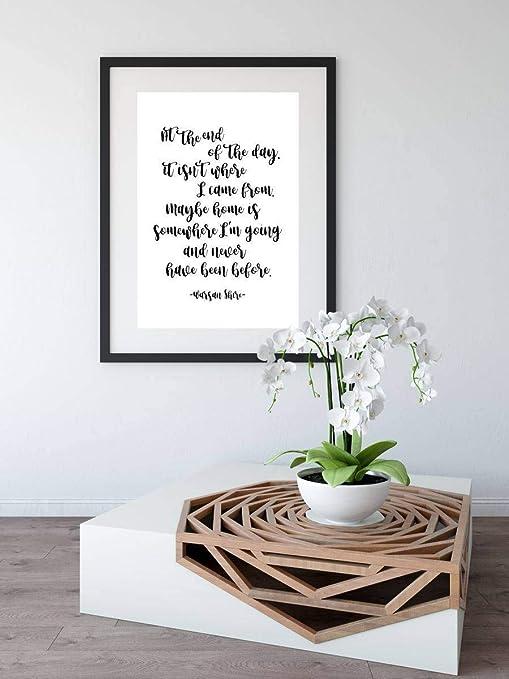 Amazon.com: Delia32Agnes Warsan Shire Inspirational Quotes ...