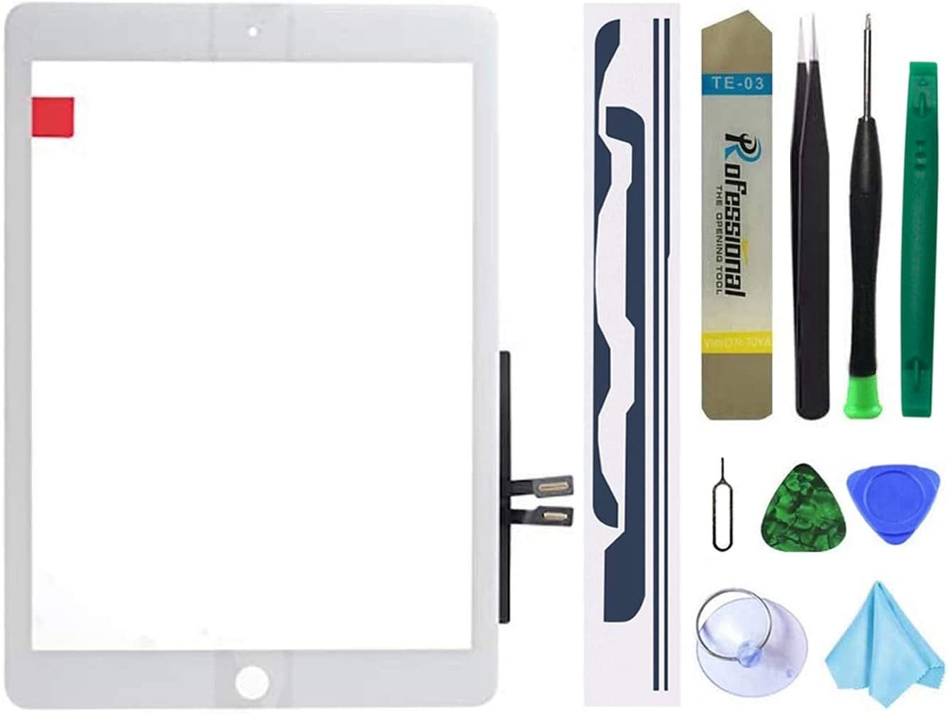 Dedia White Touch Screen Replacement Parts Digitizer Glass Assembly for iPad 6 6th Generation 2018 9.7inch (A1893 A1954) Without Home Button+Pre-Installed Adhesive +Professional Tool Kit