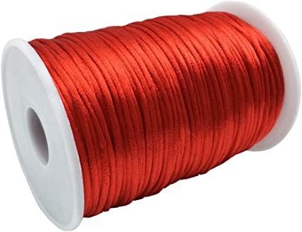 Craft And Party Rattail Satin Nylon Trim Cord Chinese Knot RED