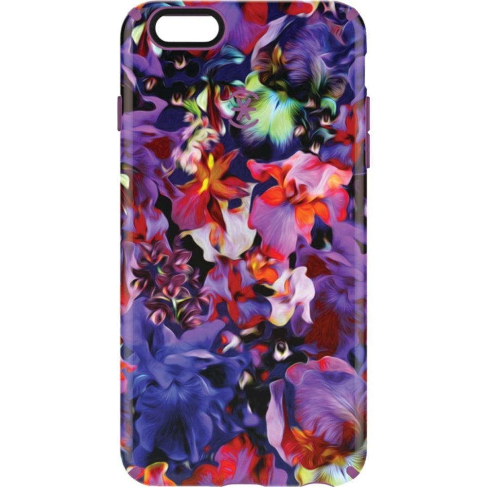 Speck Products CandyShell Inked Case for iPhone 6 Plus/6S Plus,Lush Floral/Beaming Orchid Purple