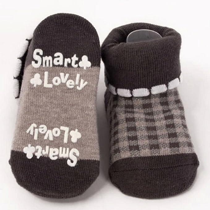 Tartan Infant Anti Skid Slip Baby Newborn Shocks Toddler Shoes 2 Pack BROWN