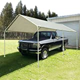 Quictent 20'X10' Heavy Duty Carport Car Canopy Party Wedding Tent with Waterproof, Anti UV Gray Cover