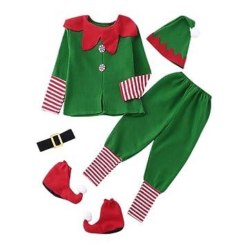 Liqiqi Adultos Niños Trajes de Navidad Traje de Elfo Vestido ...