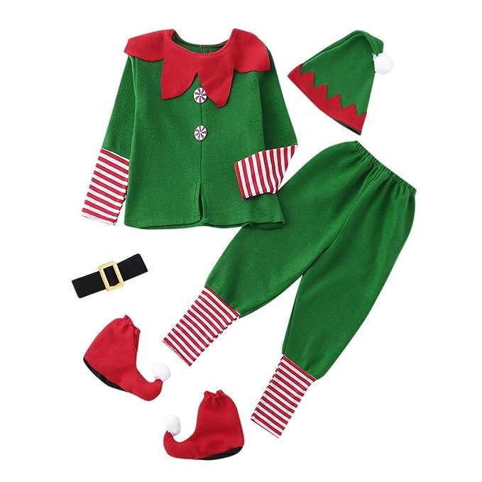 Navidad Conjunto Bebe Niñas Niño Recien Nacido Elfo Tops + ...
