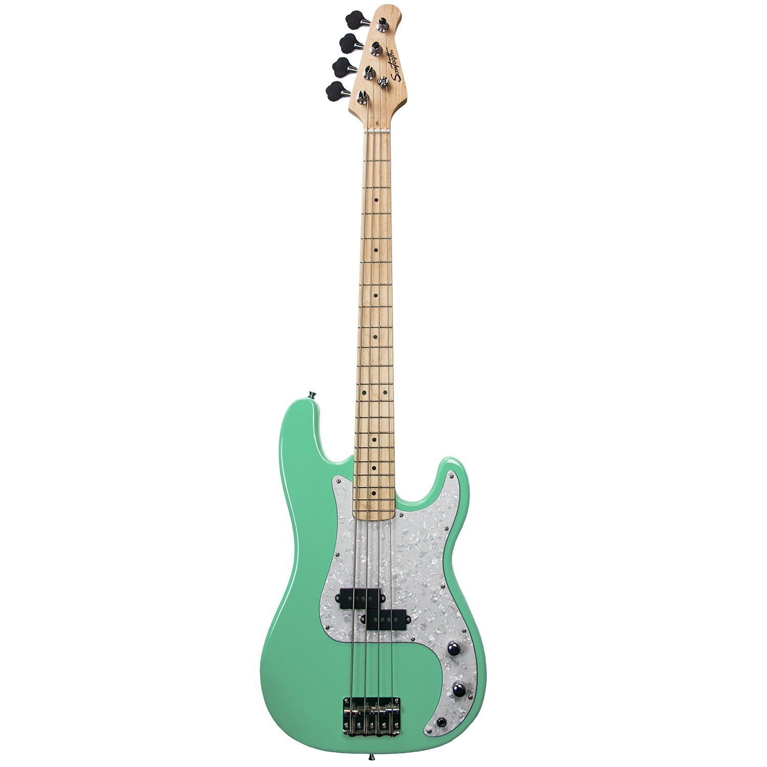 Sawtooth ST-PB-SGRP EP Series Electric Bass Guitar, Surf Green with White Pearloid Pickguard