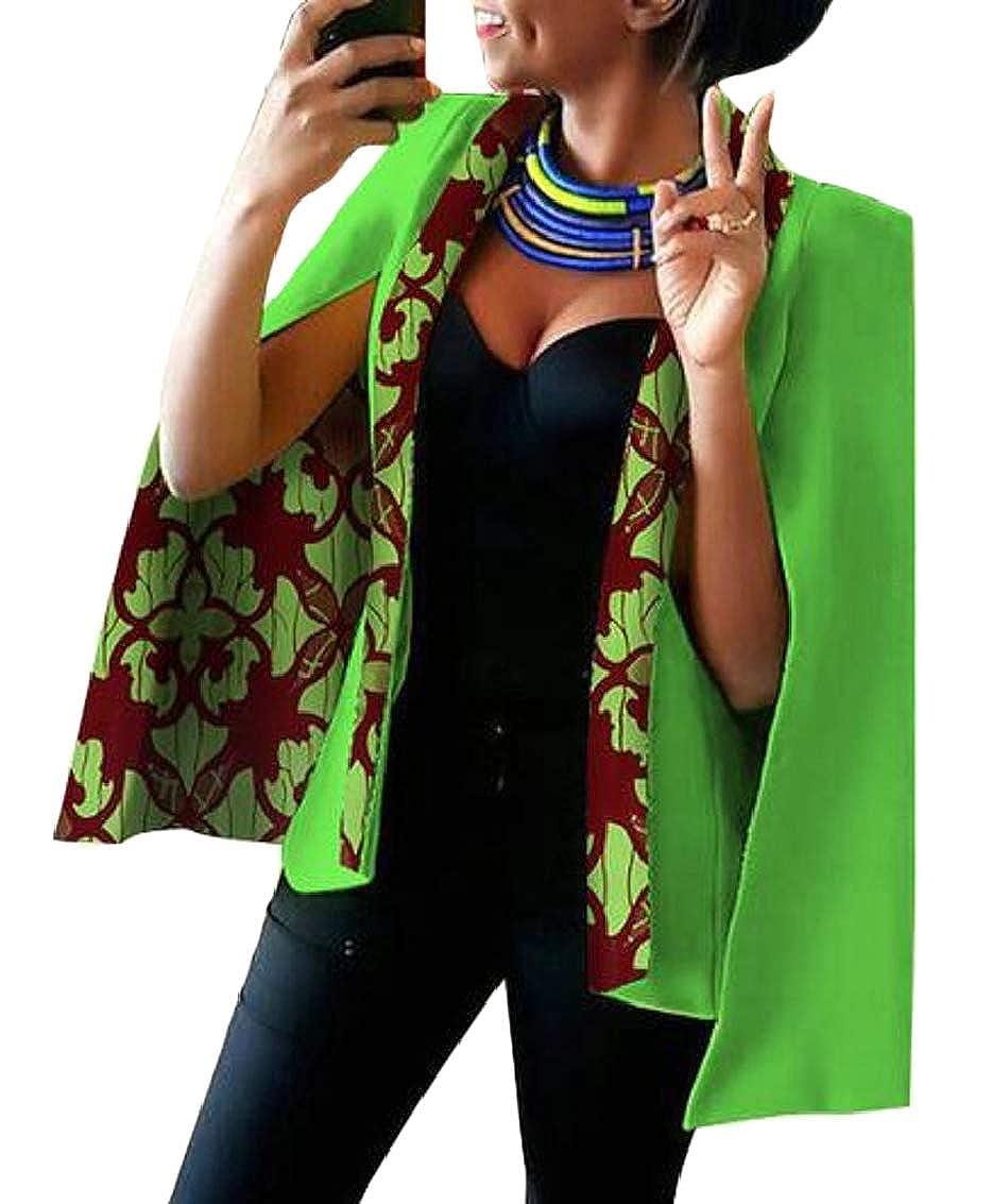 4 Women Casual African Print Shawl Split Sleeve Blazer Jacket Coats