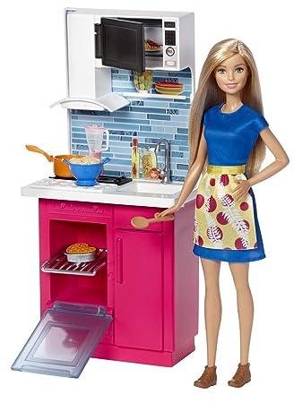 barbie dvx54 - la cucina di barbie: amazon.it: giochi e giocattoli - Giochi Di Cucina Di Barbie