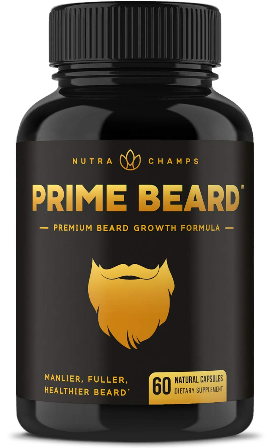 Prime Beard Growth Vitamins Supplement for Men by NutraChamps