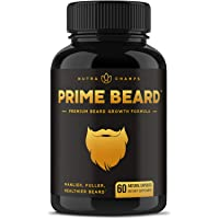 Beard Growth Vitamins Supplement for Men - Grow Thicker & Longer Facial Hair with...