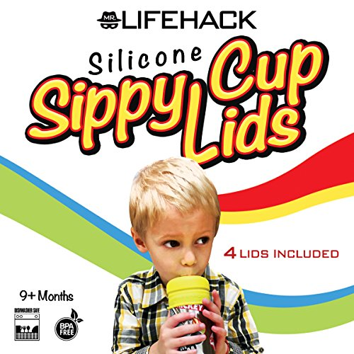 Sippy Cup Lids by MrLifeHack - (4 Pack) - Makes Any Cup Or Bottle Spill Proof - 100% BPA Free Leak Proof Silicone - Perfect for Toddlers & Babies by MrLifeHack (Image #6)