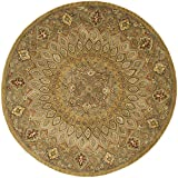 Safavieh HG914A Heritage Collection Handmade Hand-Spun Wool Round Area Rug, 6-Feet 6-Inch, Light Brown and Grey Picture