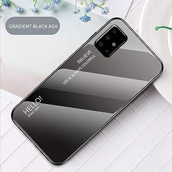 Yoota Funda Samsung Galaxy A51, Gradiente Tapa Trasera de Cristal ...