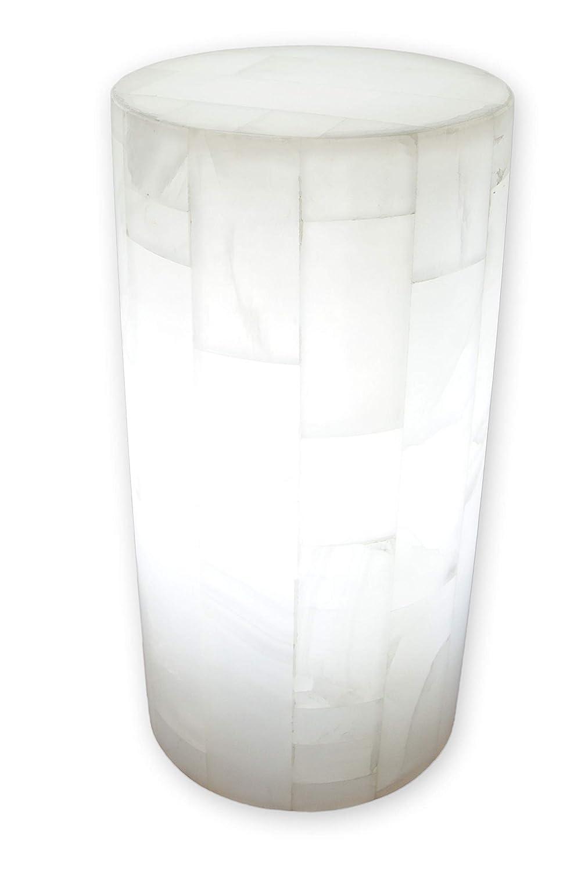Lámpara de mesa/buró en piedra mármol de ónix artesanal 30cmx15cm ...