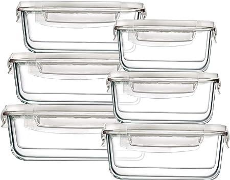 Amazon.com: Bayco - Recipiente grande de cristal para ...