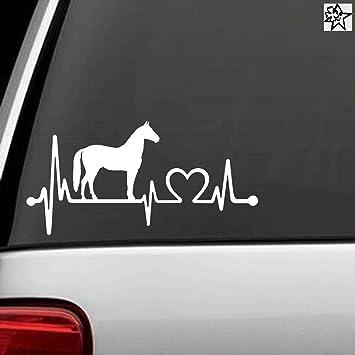Herzschlag Aufkleber Pferde Pferd Horse 30cm Sticker Herz Fan Hobby Leidenschaft Liebe Für Auto Autoaufkleber Auto