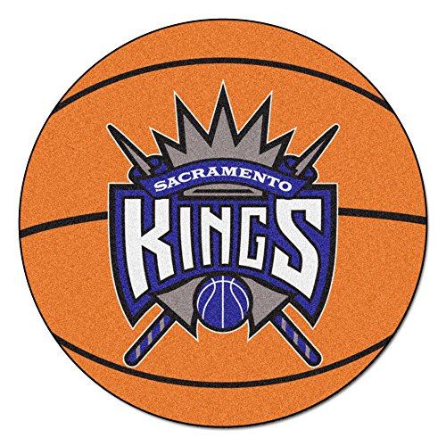 FANMATS NBA Sacramento Kings Nylon Face Basketball Rug ()