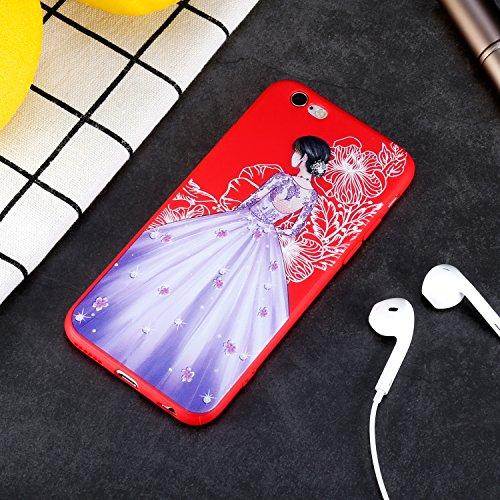 "iPhone 6S/6 Hülle , ivencase [Rot] Silikon Handyhülle Schutzhülle TPU Case Backcover Bumper Slimcase Etui Tasche für Apple iPhone 6S/6 4.7"""