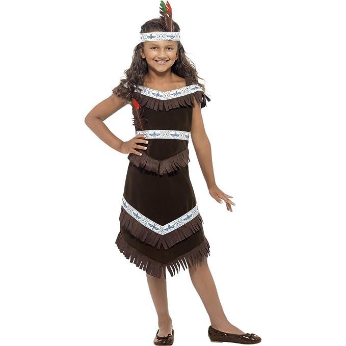 NET TOYS Traje de Pocahontas o India Disfraz niña Oeste Salvaje ...