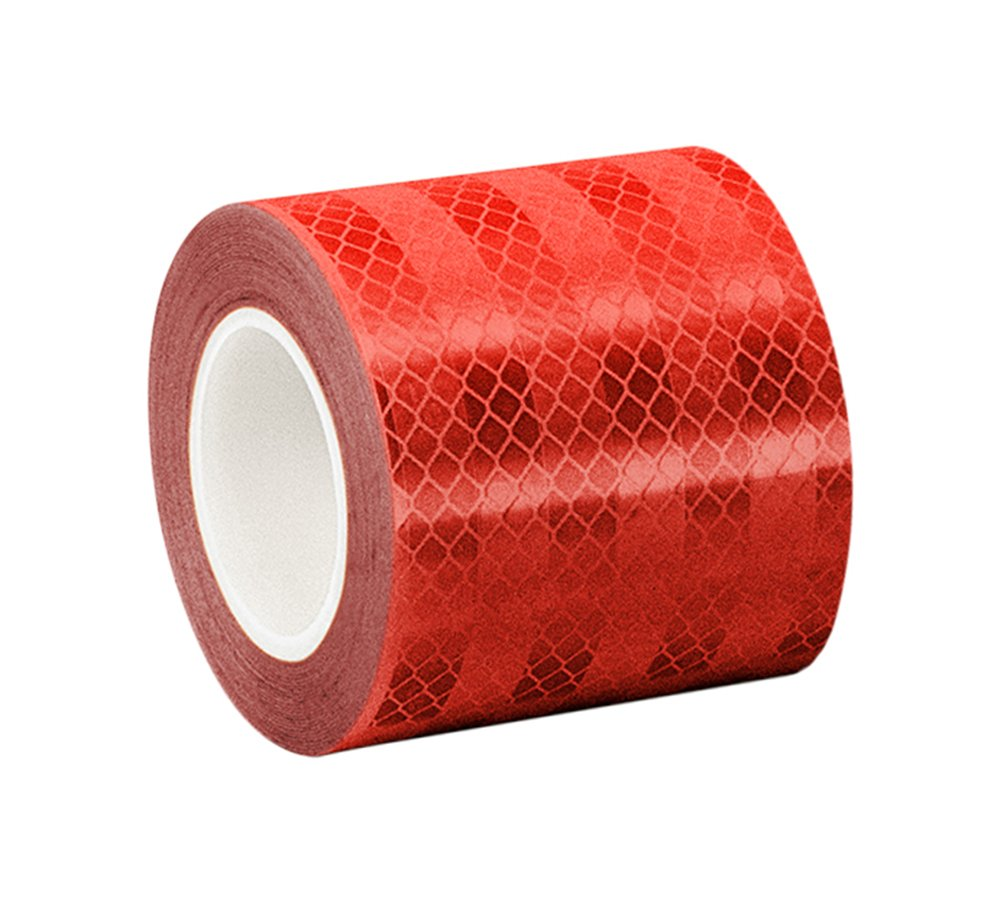 3M 3432 Red Micro Prismatic Sheeting Reflective Tape, 4'' width x 50yd length (1 roll)
