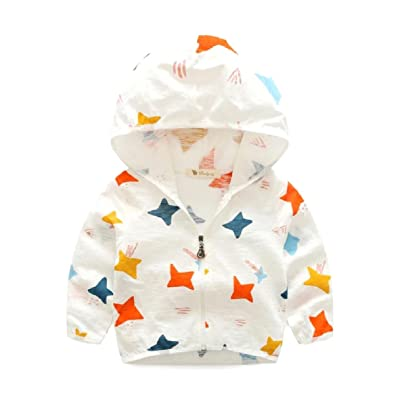 ANDYOU-Baby Cute Summer Fine Cotton Sun Protection Star Printed Hoodie 8bf1b77e1a51