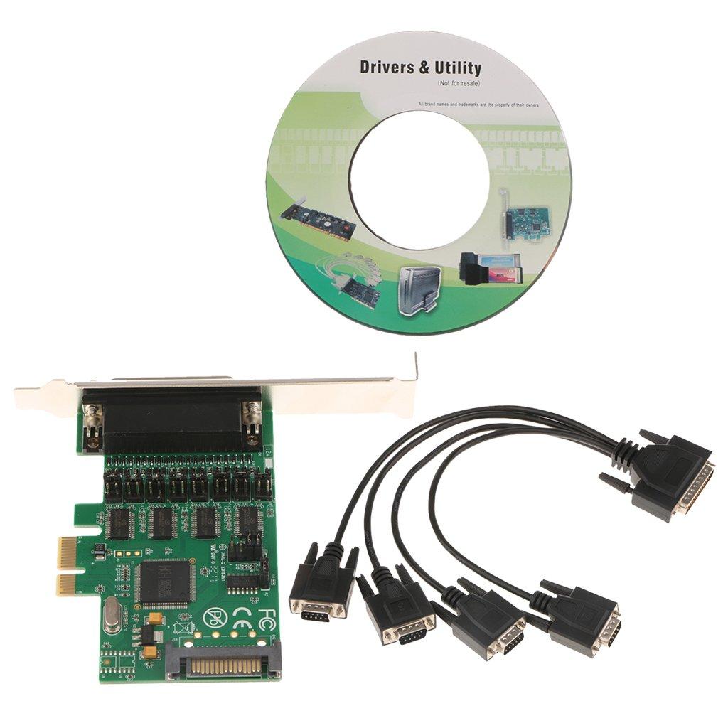 Sharplace Tarjeta de Puerto serie Serial Cable con Unidad de CD Adaptador diseño del bus PCI-Express X1: Amazon.es: Electrónica