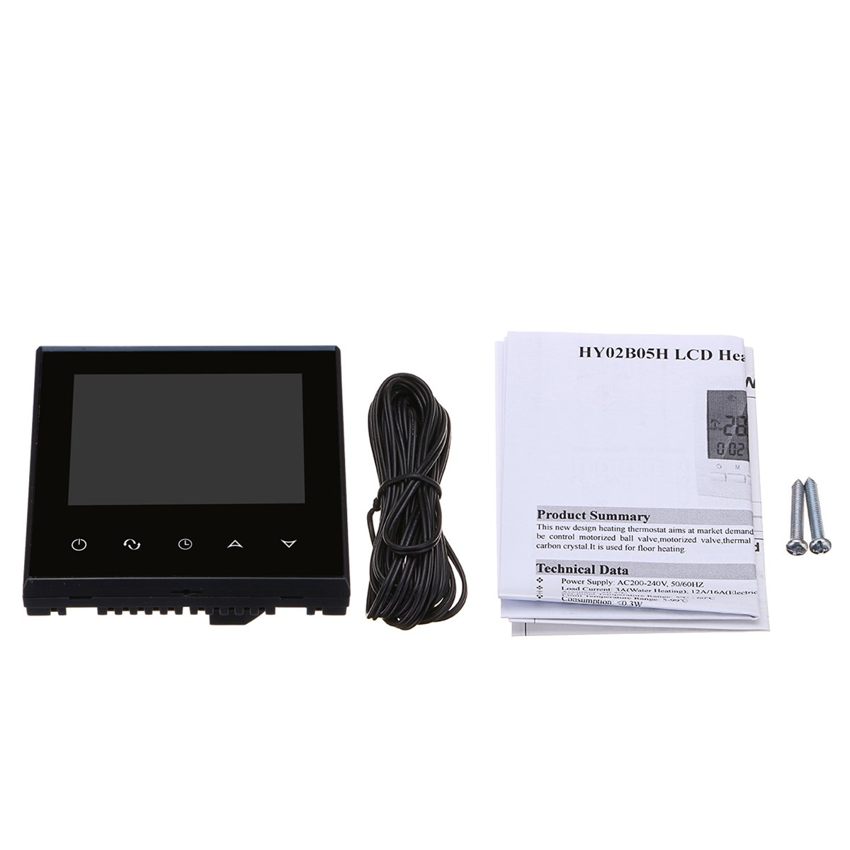 MASUNN WiFi LCD Digital Inalámbrico Smart Programable Termostato Controlador de Temperatura: Amazon.es: Hogar