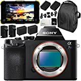 Sony Alpha a7S Mirrorless Digital Camera with Atomos Shogun Flame 7 4K HDMI/SDI Recording Monitor 11PC Accessory Bundle – Includes Deluxe Backpack + MORE