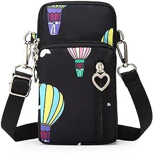 MODANA Fashion Sports Shoulder Bag Mini Wrist Purse Armband Bag Universal Phone Holder Pouch Case for iPhone/Samsung/LG/Moto/Black Berry/Sony/HTC/Nexus/Nokia/Lumia/Huawei and So on. (Black Balloon)