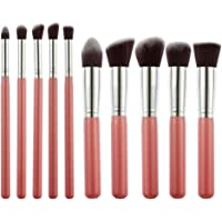 Generic Foundation, Eyeshadow Makeup Brush, Pink, Set of 10