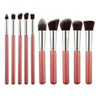 Generic Foundation, Eyeshadow Makeup Brush, Pink, Set of 10