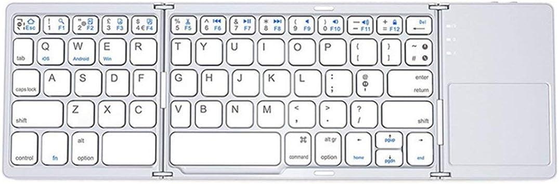 Tres Teclado inalámbrico Plegable Mini portátil Touchpad ...
